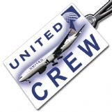 United Airlines Boeing 777-200 Crew Tag
